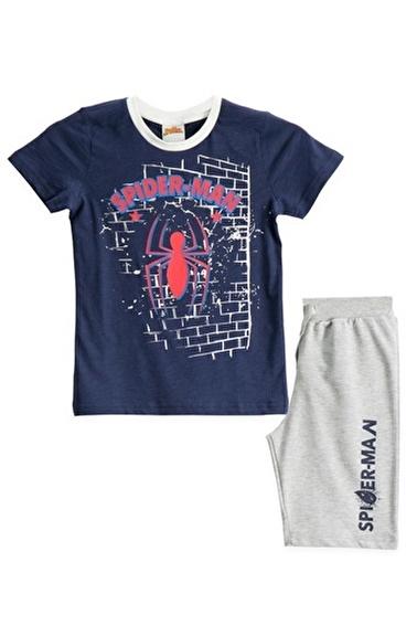 Spider-Man Spiderman Lisanslı Kırmızı Erkek Çocuk Bermuda Takımı Lacivert